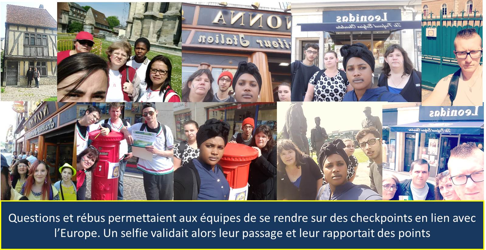 Checkpoints et selfies