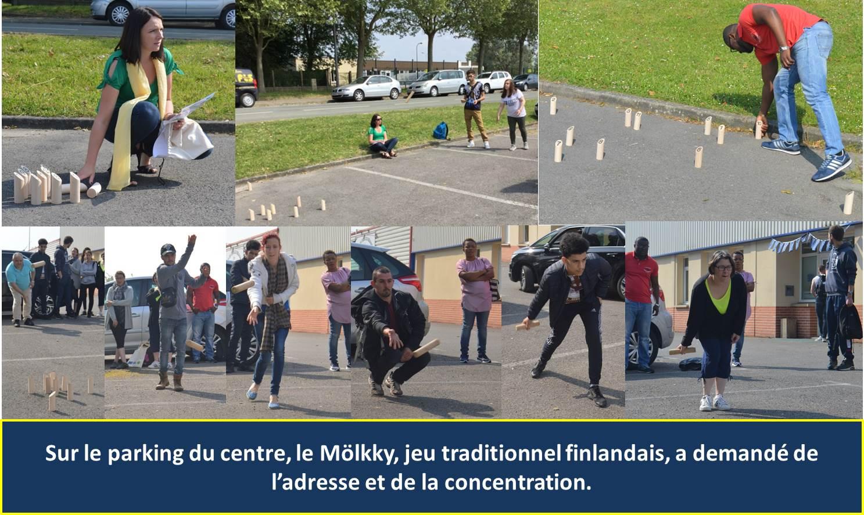 Au centre AFIPP, le jeu du Mölkki