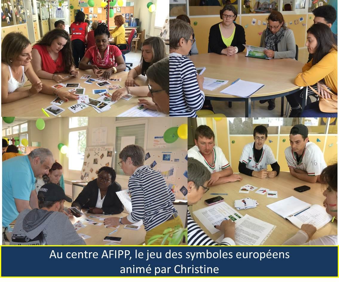 Au centre AFIPP: le jeu des symboles européens