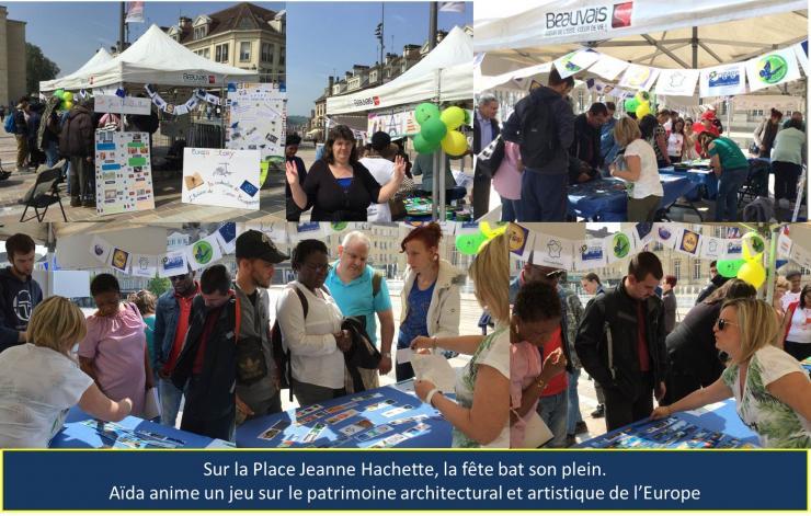 Place Jeanne Hachette: un jeu sur le patrimoine européen