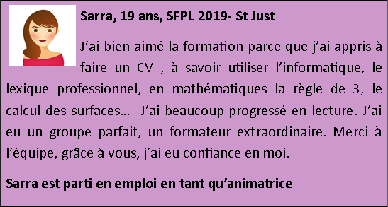 Temoignage 2019 sfpl st just 4